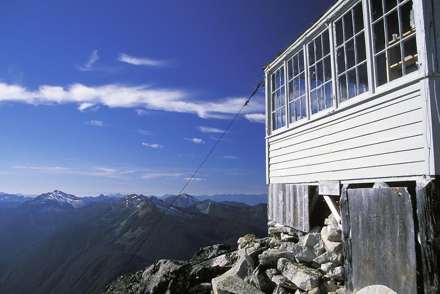 Hidden Lake Peak Lookout, Hidden Lake Trail, North Cascades National Park, Cascade Mountains, Washington