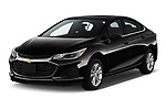 2019 Chevrolet Cruze LT 4 Door Sedan Angular Front stock photos of front three quarter view