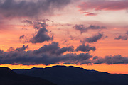 Sunrise from the Kancamagus Highway (route 112), which is one of New England's scenic byways located in the White Mountains, New Hampshire.