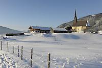 Deutschland, Bayern, Oberbayern, Chiemgau, Inzell Ortsteil Einsiedl: Winterlandschaft im Chiemgau | Germany, Upper Bavaria, Chiemgau, Inzell district Einsiedl: winter landscape