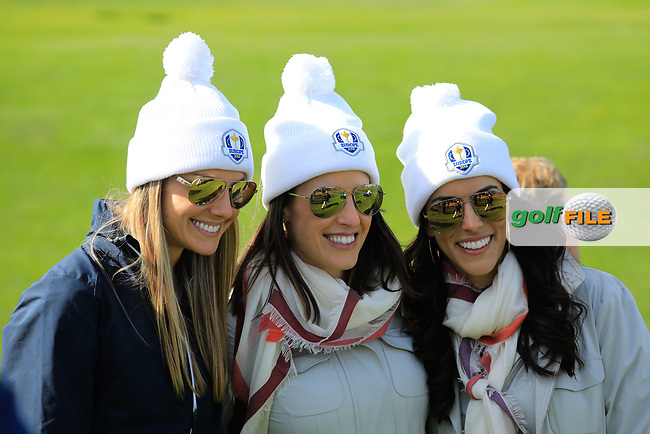 European players wives during the Saturday Fourballs at the Ryder Cup, Le Golf National, Paris, France. 29/09/2018.<br /> Picture Phil Inglis / Golffile.ie<br /> <br /> All photo usage must carry mandatory copyright credit (© Golffile | Phil Inglis)