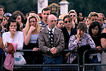Death of Princess Diana, mourners outside Buckingham Palace 1997. 1990s UK