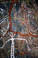 Aboriginal Rock art Mimi Spirit figures in Arnhem Land Northern Territory, Australia -Images from the Book Journey Through Colour and Time