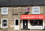 Revett and Son traditional family butcher business at Wickham Market, Suffolk, England