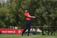 Jeunghun Wang (KOR) on the 4th tee during Round 1 of the Omega Dubai Desert Classic, Emirates Golf Club, Dubai,  United Arab Emirates. 24/01/2019<br /> Picture: Golffile | Thos Caffrey<br /> <br /> <br /> All photo usage must carry mandatory copyright credit (&copy; Golffile | Thos Caffrey)