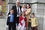 Declan Mccabe with his family at the Scoil Aonghusa Communion 2011...(Photo credit should read Jenny Matthews www.newsfile.ie)....This Picture has been sent you under the conditions enclosed by:.Newsfile Ltd..The Studio,.Millmount Abbey,.Drogheda,.Co Meath..Ireland..Tel: +353(0)41-9871240.Fax: +353(0)41-9871260.GSM: +353(0)86-2500958.email: pictures@newsfile.ie.www.newsfile.ie.