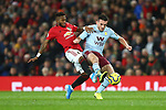 Fred of Manchester United and John McGinn of Aston Villa during the Premier League match at Old Trafford, Manchester. Picture date: 1st December 2019. Picture credit should read: Phil Oldham/Sportimage