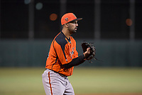 AZL Giants Orange third baseman Hector Santiago (45) during an Arizona League game against the AZL Athletics at Lew Wolff Training Complex on June 25, 2018 in Mesa, Arizona. AZL Giants Orange defeated the AZL Athletics 7-5. (Zachary Lucy/Four Seam Images)