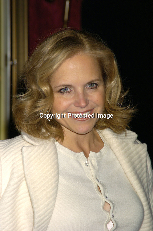 """Katie Couric ..at The New York Premiere of """"Beyond The Sea"""" on ..December 8, 2004 at the Ziegfeld Theatre. ..Photo by Robin Platzer, Twin Images"""