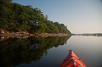 Kayaking Around Holbrook Island State Park, Holbrook Island, Maine, US