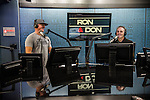 Ron and Don host a talk radio program every day from 3-7pm on 97.3 KIRO FM sharing their opinions on news and sports and current events. Left, Don O'Neill, right, Ron Upshaw. Photo by Daniel Berman