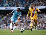 Raheem Sterling of Manchester City takes a shot during the English Premier League match at the Etihad Stadium, Manchester. Picture date: May 6th 2017. Pic credit should read: Simon Bellis/Sportimage