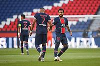 21st July 2020, Parc de Princes, Paris, France; Friendly club football, PSG versus Celtic;   Kylian MBAPPE of PSG celebrates a goal with NEYMAR JR of PSG