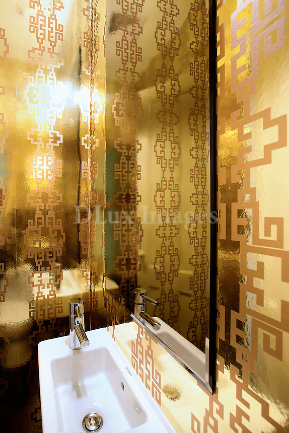 Golden bathroom