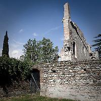 I resti del Castello Visconteo di Trezzo d'Adda..The ruins of the Castello Visconteo in Trezzo d'Adda