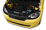 Car Stock 2016 Skoda Citigo Ambition 3 Door hatchback Engine  high angle detail view
