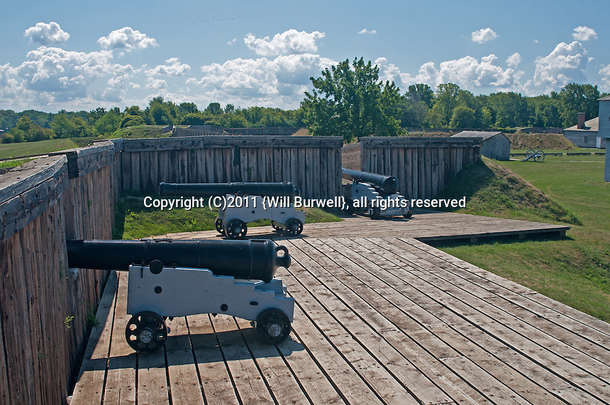 Canon at Flag Bastion Fort George, Niagara-on-the-Lake