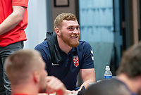 Picture by Allan McKenzie/SWpix.com - 24/04/2018 - Rugby League - RFL EPS Headshots - Village Hotels, Bury, England - England EPS and Knights players relax at camp, Scott Taylor.