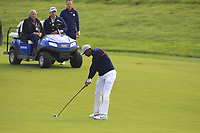 Tiger Woods (Team USA) on the 9th fairway during Friday Fourball at the Ryder Cup, Le Golf National, Iles-de-France, France. 28/09/2018.<br /> Picture Thos Caffrey / Golffile.ie<br /> <br /> All photo usage must carry mandatory copyright credit (© Golffile | Thos Caffrey)