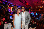 Jesse Metcalf with Cara Santana.<br /> Celebrity Cup Gala Dinner<br /> Celtic Manor Resort<br /> 05.07.14<br /> &copy;Steve Pope-SPORTINGWALES