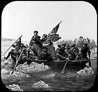 Washington Crossing the Delaware.  December 1776. Copy from painting by Emanuel Leutze, 1851. (Commission of Fine Arts)<br />Exact Date Shot Unknown<br />NARA FILE #:  066-G-15D-25<br />WAR & CONFLICT #:  29