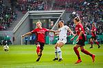 01.05.2019, RheinEnergie Stadion , Köln, GER, 1.FBL, Borussia Dortmund vs FC Schalke 04, DFB REGULATIONS PROHIBIT ANY USE OF PHOTOGRAPHS AS IMAGE SEQUENCES AND/OR QUASI-VIDEO<br /> <br /> im Bild | picture shows:<br /> Zweikampf zwischen Sara Bjoerk Gunnarsdottir (VfL Wolfsburg #7) und Giulia Gwinn (SC Freiburg Frauen #7), <br /> <br /> Foto © nordphoto / Rauch