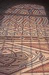 Hisham's Palace, circa 720 AD, bath mosaic restoration at Jericho in the West Bank, Palestine