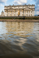 University of Greenwich seen from the River Thames, London, England