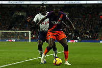 Davinson Sanchez of Tottenham Hotspur and Benjamin Mendy of Manchester City during Tottenham Hotspur vs Manchester City, Premier League Football at Wembley Stadium on 29th October 2018