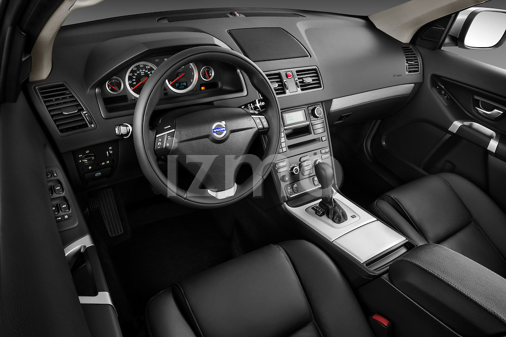High angle dashboard view of a 2012 Volvo XC90