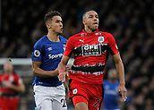 2nd December 2017, Goodison Park, Liverpool, England; EPL Premier League football, Everton versus Huddersfield Town; Mathias Zanka Jorgensen chases a through ball with Dominic Calvert-Lewin of Everton in close pursuit