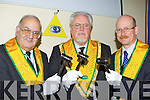 Joseph Jacob, Edward Schmidt-Zorner and Marcus Harig from The Grand Masonic Orient of Ireland who met in the Brehon Hotel Killarney on Saturday