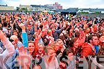 Fans enjoying the Costal Rocks open air concert last Saturday night in Ballybunion.