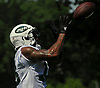 ArDarius Stewart #18 of the New York Jets a catch during OTAs held at the Atlantic Health Jets Training Center in Florham Park, NJ on Tuesday, May 29, 2018.