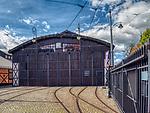 Kraków 2019-09-17. dawna zajezdnia tramwajowa i autobusowa znajdująca się przy ul. św. Wawrzyńca