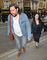"Matt Berry and guest at the ""Dark Sublime"" gala performance, Trafalgar Studios, Whitehall, London, England, UK, on Monday 01st July 2019.<br /> CAP/CAN<br /> ©CAN/Capital Pictures"
