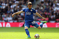 Christian Fuchs of Leicester City during Tottenham Hotspur vs Leicester City, Premier League Football at Wembley Stadium on 13th May 2018