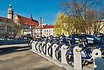 Wypożyczalnia rowerów miejskich na Placu Wolnica w Krakowie.<br /> Bike rental on Wolnica Square in Krakow.