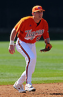 Clemson shortstop Stan Widmann prior to a game between the Clemson Tigers and Mercer Bears on Feb. 23, 2008, at Doug Kingsmore Stadium in Clemson, S.C. Photo by: Tom Priddy/Four Seam Images