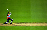 England's Dawid Malan brings up his 50 during the International Twenty20 cricket match between the NZ Black Caps and England at Westpac Stadium in Wellington, New Zealand on Tuesday, 13 February 2018. Photo: Dave Lintott / lintottphoto.co.nz