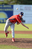 Williamsport Crosscutters pitcher Shane Martin (33) during a game against the Batavia Muckdogs on September 4, 2013 at Dwyer Stadium in Batavia, New York.  Williamsport defeated Batavia 6-3 in both teams season finale.  (Mike Janes/Four Seam Images)