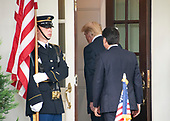 United States President Donald J. Trump welcomes Prime Minister Giuseppe Conte of Italy to the White House for talks in Washington, DC  on Monday, July 30, 2018.<br /> Credit: Ron Sachs / CNP