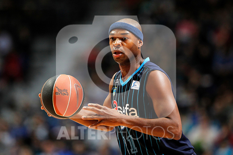 Asefa Estudiantes' Tariq Kirksay during Liga Endesa ACB match.April 15,2012. (ALTERPHOTOS/Acero)