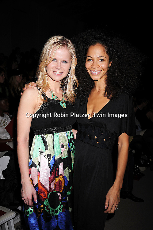 Crystal Hunt and Sherri Saum..at the Vivienne Tam Fall 2008 Fashion Show at Mercedes-Benz Fashion Week New York at Bryant Park on February 5, 2008. ....Robin Platzer, Twin Images..212-935-0770