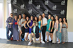 Douglas Webster (artistic director) & skaters at Ice Theatre of New York's Celeb Skate 2013 on June 9, 2013 at the Sky Rink at Chelsea Piers, New York City, New York. (Photo by Sue Coflin/Max Photos)