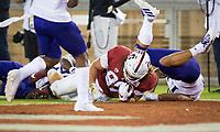 Stanford, CA - October 5, 2019: Tucker Fisk at Stanford Stadium. The Stanford Cardinal beat the University of Washington Huskies 23-13.