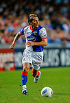 Michel Salgado of Blackburn Rovers in action against Kitchee FC during the Asia Trophy pre-season friendly match at the Hong Kong Stadium on July 30, 2011 in So Kon Po, Hong Kong. Photo by Victor Fraile / The Power of Sport Images
