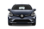 Car photography straight front view of a 2017 Renault Clio Intnse 5 Door Wagon Front View