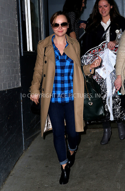 WWW.ACEPIXS.COM<br /> <br /> March 26 2015, New York City<br /> <br /> Actress Christina Ricci made an appearance at HuffPost Live on March 26 2015 in New York City<br /> <br /> <br /> By Line: Zelig Shaul/ACE Pictures<br /> <br /> <br /> ACE Pictures, Inc.<br /> tel: 646 769 0430<br /> Email: info@acepixs.com<br /> www.acepixs.com