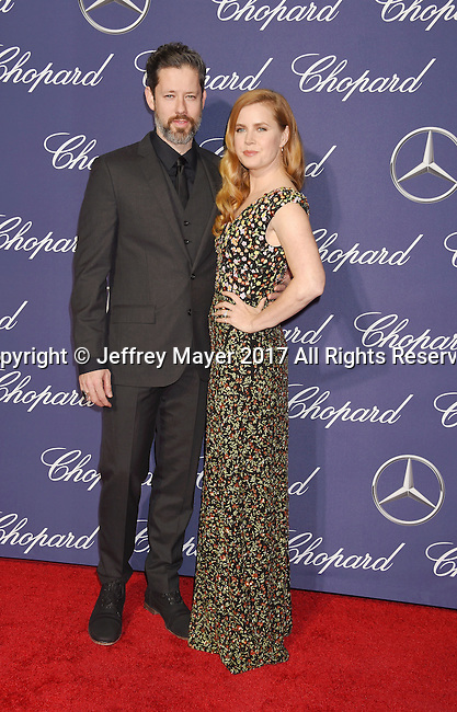 PALM SPRINGS, CA - JANUARY 02: Actor Darren Le Gallo (L) and actress/wife Amy Adams attend the 28th Annual Palm Springs International Film Festival Film Awards Gala at the Palm Springs Convention Center on January 2, 2017 in Palm Springs, California.